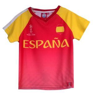 Mode- Lifestyle enfant NPZ Tee shirt équipe d'Espagne FIFAé 2018 Officiel  Taille de 4 é 12 ans - 10 ans rouge