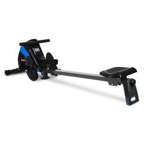 HS HOP SPORT Hop-Sport Rameur HS-030R Boost Machine à Ramer équipée de l'ordinateur Bleu/Noir