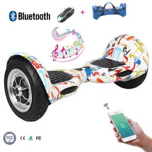 Glisse urbaine  COOL&FUN Hoverboard Cool&Fun 10 pouces Electric Scooter Skateboard Smart Balance Board