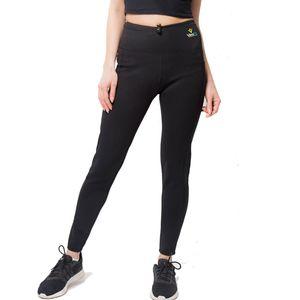 Fitness femme VEOFIT Pantalon de Sudation Taille Haute Air Black