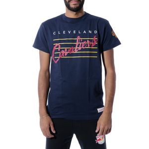 Mode- Lifestyle homme MITCHELL & NESS Cleveland Cavaliers Homme Tee-Shirt Basketball Marine Mitchell & Ness