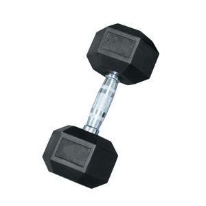 Fitness  LEADERFIT' HALTERE CAOUTCHOUC HEXAGONAL 32.5 KG POUR LA MUSCULATION