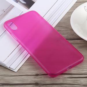 auto-hightech Coque housse pour iphone XS 0.3 mm Ultra-mince Dépoli PP pour l'iPhone XS Max (Rose Rouge)