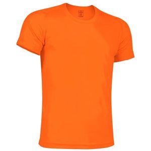 Polyvalent homme FASHION Tee shirt manches courtes anti transpirant homme orange fluo