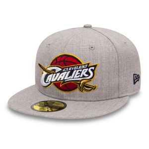 Mode- Lifestyle homme NEW ERA Casquette New Era 59fifty Nba Heather Fitted Cleveland Cavaliers