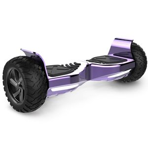 Glisse urbaine  COOL&FUN Hoverboard Bluetooth Tout Terrain,  Colorway Gyropode Overboard Fontion Application, SUV Hummer  8.5 pouces, Violet