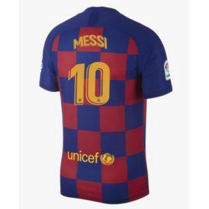 Football homme NIKE Nouveau Maillot Nike Homme FC Barcelone Domicile Flocage Officiel Messi Numéro 10 Saison 2019/2020