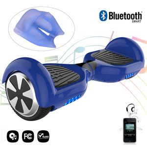 Glisse urbaine  COOL&FUN COOL&FUN hoverboard gyropode Bluetooth 6.5 Pouces blue + Housse en silicone protection pour hoverboard  Gyropode 6,5 pouces, bleu