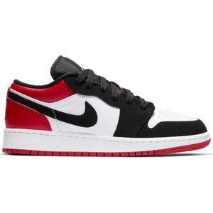 adulte JORDAN Chaussure de Basket Air Jordan 1 Mid low (GS) Junior Noir red Pointure - 36.5