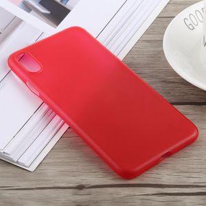 auto-hightech Coque housse pour iphone XS 0.3 mm Ultra-mince Dépoli PP pour l'iPhone XS Max (Rouge)