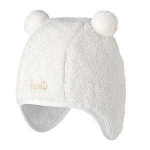 Ski Bébé BART'S BARTS-Bonnet naissance blanc en fourrure polaire du 3 au 12 mois Barts