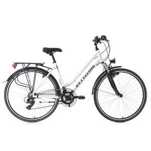 Cycle  KS CYCLING VTC femme 28'' Metropolis blanc guidon plat TC 48 cm KS Cycling