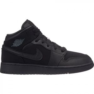 Mode- Lifestyle adulte JORDAN Chaussure de Basket Air Jordan 1 Mid BG Junior Noir Pointure - 35.5