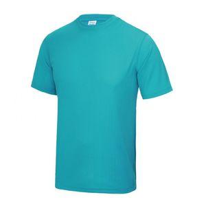 FASHION Maillot - Tee shirt homme  Sport anti-transpirant bleu turquoise Taille XS à XL (Taille: L - couleur: bleu)