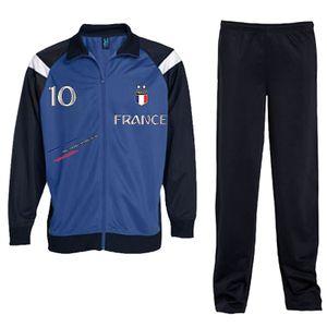 Mode- Lifestyle enfant NPZ Jogging Survetement de foot France 2 étoiles enfant bleu Taille de 4 é 16 ans