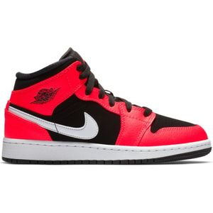 adulte JORDAN Chaussures de Basket Air Jordan 1 Mid BG Orange pour junior Pointure - 38