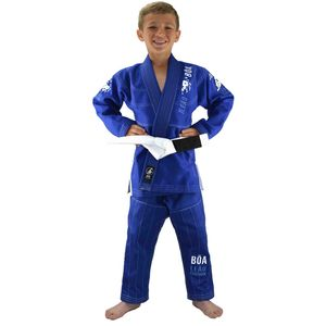 Ju-Jitsu traditionnel enfant Boa Fightwear Kimono de JJB junior Boa Leao 2.0 Bleu