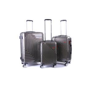 LEE COOPER Lee Cooper DONNA - Pack de 3 valises Trollet Rigide Gris ABS PU (4 roues)
