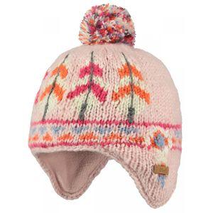 Ski Bébé BART'S BARTS-Bonnet peruvien jacquard rayé blanc ivoire rose bébé fille du 1 au 3 ans Barts
