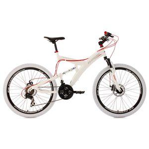 Cycle  KS CYCLING VTT tout suspendu 26'' Topspin blanc-rouge TC 51 cm KS Cycling