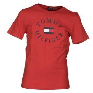 Mode- Lifestyle garçon TOMMY HILFIGER Tee Shirt Garçon Tommy Hilfiger Kb0kb04676 Essential Tomm 633 Flame Scarlet