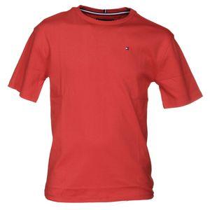 Mode- Lifestyle garçon TOMMY HILFIGER Tee Shirt Garçon Tommy Hilfiger Kb0kb04679 Boxy Back Prin 633 Flame Scarlet