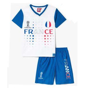 Mode- Lifestyle enfant NPZ Ensemble short et maillot de foot FRANCE Officiel de la FIFA 2018 enfant blanc news Taille de 4 é 12 ans