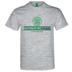 Football homme GENERIQUE Celtic FC officiel - T-shirt thème football - inscription « Treble Treble Winners » - homme