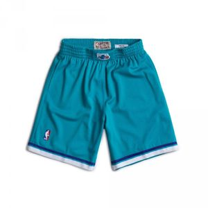 Basketball adulte MITCHELL AND NESS Short NBA Charlotte Hornets 1992-93 Mitchell & Ness Swingman Bleu pour Homme taille - S