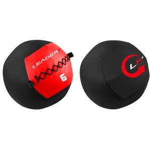 Musculation  LEADERFIT' SOFT MEDECINE BALL 6KG -  ROUGE ET NOIR