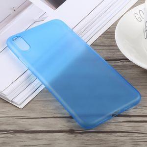 auto-hightech Coque housse pour iphone XS 0.3 mm Ultra-mince Dépoli PP pour l'iPhone XS Max (Bleu)