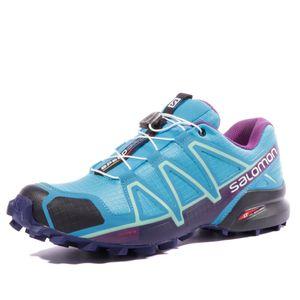 Mode- Lifestyle femme SALOMON Speedcross 4 Femme Chaussures Trail Bleu Salomon