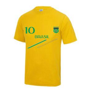 Mode- Lifestyle enfant NPZ Maillot - Tee shirt de foot Bresil enfant Taille de 3 é 13 ans - 12 / 13 ans  jaune