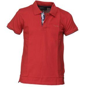 Mode- Lifestyle garçon PEPE JEANS Polo garçon Pepe Jeans Pb540349 Thor Jr 244 Mars Red