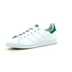 Mode- Lifestyle garçon ADIDAS ORIGINALS Adidas Originals Stan Smith J Blanc Vert