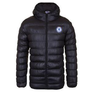 Football homme CHELSEA FC Chelsea FC officiel - Doudoune matelassée thème football - à capuche - homme