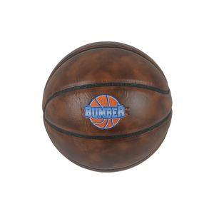 Basket ball  BUMBER Ballon de basket Bumber marron foncé  Ø24,5 avec embout de pompe et filet de transport
