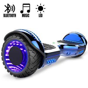 COOL&FUN COOL&FUN Hoverboard Gyropode Bluetooth 6.5 pouces, Roues lumineuses à LED de couleur et Bande de LED, Bleu