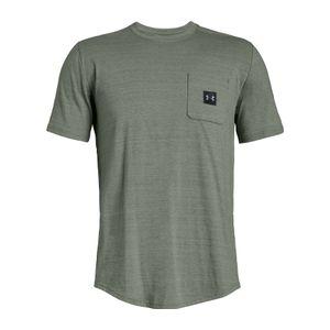 Mode- Lifestyle homme UNDER ARMOUR Under Armour - Sportstyle Pocket Hommes la formation T-chemise (vert)