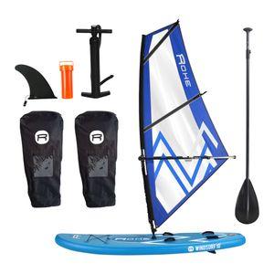 Nautisme  ROHE Pack Stand Up Paddle gonflable ROHE Planche à voile WINDSURF 10' x 30'' x 6'' (305 x 76 x 15 cm) avec gréement complet 3m² - avec accessoires