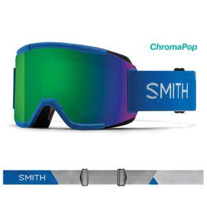 Sports d'hiver  SMITH Masque De Ski/snow Smith Squad Imperial Blue Chromapop Sun Green Mirror
