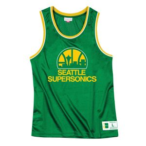 Basket ball homme MITCHELL AND NESS T-shirt M&N Nba Mesh Top Seattle SuperSonics