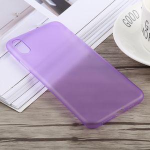 auto-hightech Coque housse pour iphone XS 0.3 mm Ultra-mince Dépoli PP pour l'iPhone XS Max (Violet)