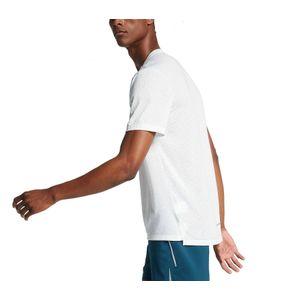 running homme NIKE Nike Rise 365 Hommes Haut running blanc