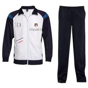 Mode- Lifestyle enfant NPZ Jogging Survetement de foot France 2 étoiles enfant blanc Taille de 6 é 16 ans