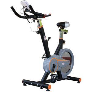 HOMCOM Vélo d'appartement cardio vélo biking écran multifonction selle et guidon réglable noir gris orange
