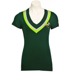Mode- Lifestyle femme ASICS V-Neck Femme Tee-Shirt Rugby Afrique Du Sud Vert Asics