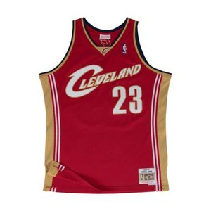 Mode- Lifestyle adulte MITCHELL AND NESS Maillot Basketball Mitchell & Ness Cleveland Cavaliers HWC Swingman Lebron James Rouge