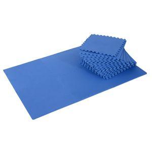 Yoga  HOMCOM Tapis interconnectables en mousse 62 cm x 62 cm x 13 mm avec bordures tapis puzzle 25 pièces 9,3 m² de surface noir neuf 11BK