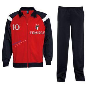 Mode- Lifestyle enfant NPZ Jogging Survetement de foot France 2 étoiles enfant rouge Taille de 4 é 16 ans